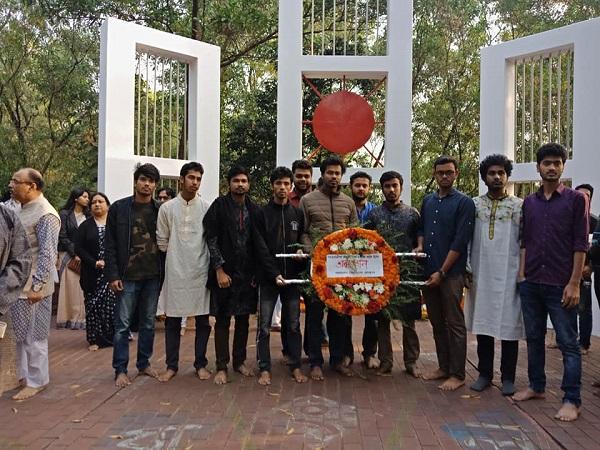 আন্তর্জাতিক মাতৃভাষা দিবস ও মহান শহিদ দিবসে ভাষা শহীদদের প্রতি শাহজালাল বিশ্ববিদ্যালয় প্রেসক্লাবের শ্রদ্ধাঞ্জলি